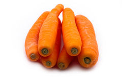 A few fresh orange carrots Royalty Free Stock Images