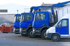 Few garbage trucks. Stock Photos