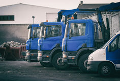 Few garbage trucks. Royalty Free Stock Photo
