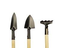 Few garden tools isolated. On white bakcground Stock Photos