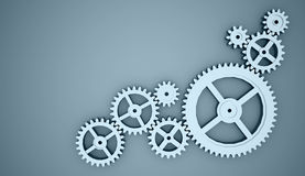 Few gears concept Royalty Free Stock Photo