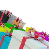 A few gift boxes. A gift for a holiday. Stock Photos