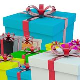 A few gift boxes. A gift for a holiday. Stock Image