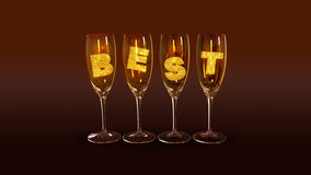A few glasses with the text best Stock Photography