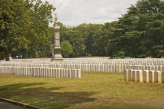 A few graves at Andersonville Stock Image