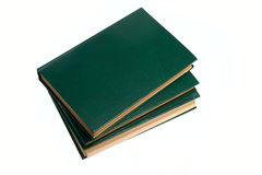 Few green books Stock Photos
