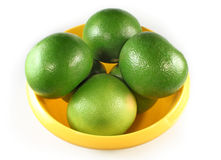 A few green grapefruits Royalty Free Stock Photos