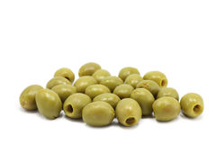 A few green olives Stock Photos
