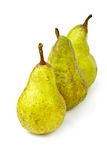 Few green pears Royalty Free Stock Image