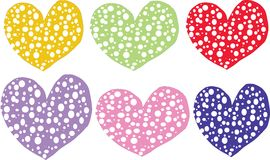 A few hearts are on a white background Stock Photography