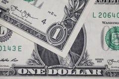 Few jeden dolarowi rachunki Obrazy Stock