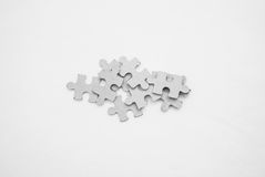 Few jigsaw puzzle Royalty Free Stock Photo