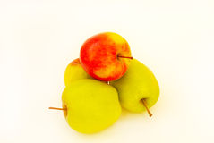 A few juicy and fresh apples Royalty Free Stock Images