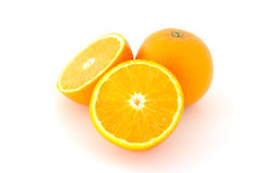 Few juicy oranges. Few juicy oranges on verwhite (not isolated) background royalty free stock photo
