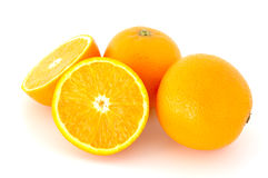 Few juicy oranges. Few juicy oranges on verwhite (not isolated) background stock images