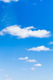 Few light clouds in blue sky. In May Royalty Free Stock Images