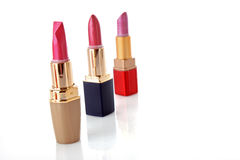 Few lipsticks stock photos