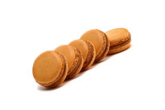A few macaroons are  on white. Macaroons are the most popular French dessert Royalty Free Stock Photos