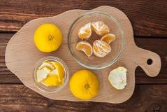 A few mandarines Royalty Free Stock Image