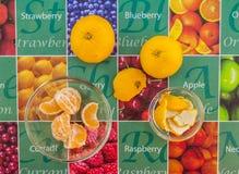A few mandarines Stock Images
