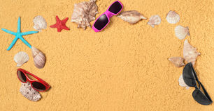 Few marine. Items  sandy background Royalty Free Stock Images