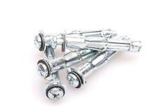 Few metal screws Stock Photos