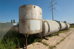 Few metal tank Stock Photos