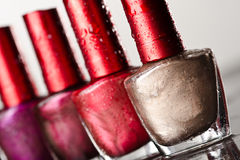 Few nail enamel Stock Photography