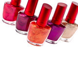 Few nail polish bottles Stock Photography