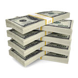 A few packs of dollar bills Stock Photo