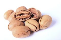 Few pecan nuts Royalty Free Stock Photography