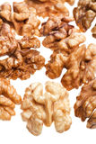 Few peeled walnut kernels Stock Photos