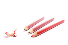 Few pencils isolated Royalty Free Stock Photos