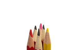 Few pencils isolated Royalty Free Stock Photography