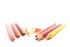 Few pencils isolated Royalty Free Stock Images