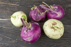 A few pieces of cabbage Kolerabi Stock Image