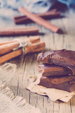 Few pieces of chocolate Stock Images