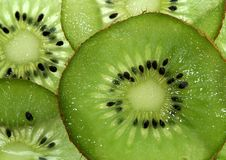 Few pieces of kiwi fruit Stock Images