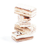 Few pieces of nougat stacked together Stock Photography