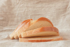 A few pieces of white wheat bread Royalty Free Stock Photo