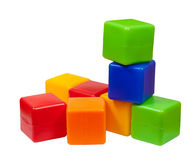 Few plastic toy blocks Stock Photos