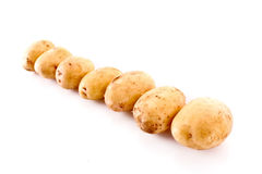 Few potatoes isolated Royalty Free Stock Photos