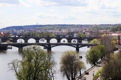 Few Prague bridges royalty free stock photography