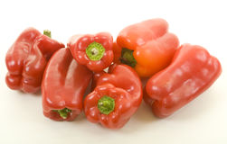 Few Red Bell Peppers Stock Photos