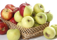 Few red and green apples Royalty Free Stock Photography