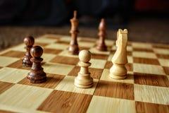 Chess endgame stock image