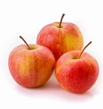 Few ripe red apples isolated Royalty Free Stock Photo