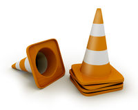 Few road cones Stock Photo