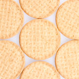 A few round biscuits Stock Photos