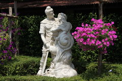 A few sculptures in tropical park of Nong Nooch in Pattaya, Thailand Royalty Free Stock Photo